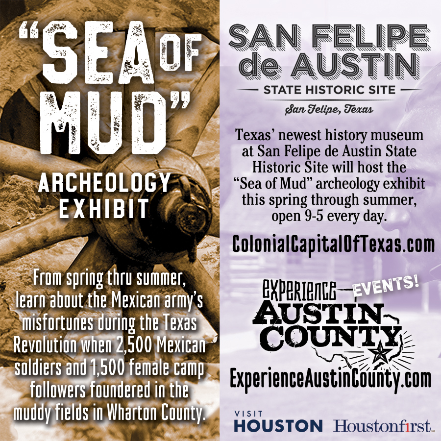Sea Of Mud Archeology Exhibit at San Felipe de Austin State Historic Site